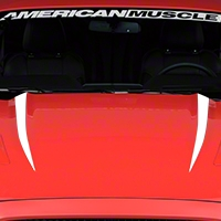 Hood Accent Decal - White (2015 All) - American Muscle Graphics 386384
