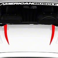 Hood Accent Decal - Red (2015 All) - American Muscle Graphics 386385