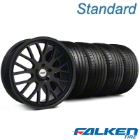 TSW Tremblant Matte Black Wheel & Falken Tire Kit - 20x8.5 (05-14 All) - American Muscle Wheels KIT||35617