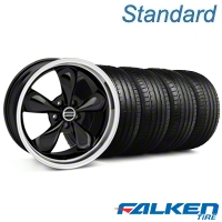 Deep Dish Bullitt Black Wheel & Falken Tire Kit - 20x8.5 (05-14 V6; 05-10 GT) - American Muscle Wheels 79573