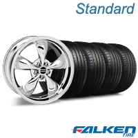 Deep Dish Bullitt Chrome Wheel & Falken Tire Kit - 20x8.5 (05-14 V6; 05-10 GT) - American Muscle Wheels 28037