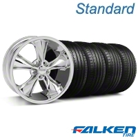Foose Legend Chrome Wheel & Falken Tire Kit - 20x8.5 (05-14 GT, V6) - American Muscle Wheels KIT||32800||79573||mb1