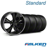 Foose Legend Black Wheel & Falken Tire Kit - 20x8.5 (05-14 GT, V6) - American Muscle Wheels KIT||32802||79573||mb1