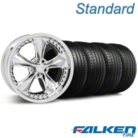 Foose Nitrous Chrome Wheel & Falken Tire Kit - 20x8.5 (05-14 GT, V6) - American Muscle Wheels KIT||79573||32805||mb1