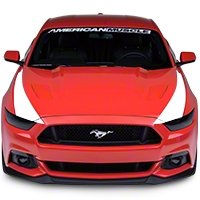 Outer Hood Stripes - White (2015 All) - American Muscle Graphics 386509