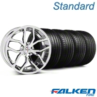 Foose Outcast Chrome Wheel & Falken Tire Kit - 20x8.5 (05-14 All) - American Muscle Wheels KIT||79573||32837||mb1
