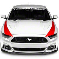 Outer Hood Stripes - Red (2015 All) - American Muscle Graphics 386510
