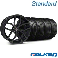 Foose Outcast Matte Black Wheel & Falken Tire Kit - 20x8.5 (05-14 All) - American Muscle Wheels KIT||79573||32839||mb1