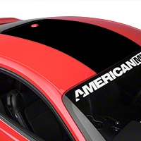 Roof Panel Decal - Black (2015 All) - American Muscle Graphics 386521