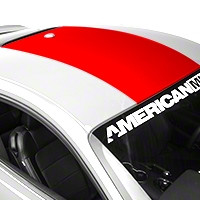 Roof Panel Decal - Red (2015 All) - American Muscle Graphics 386524