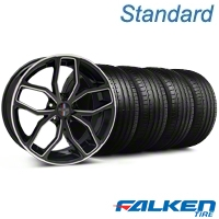 Foose Outcast Black Machined Wheel & Falken Tire Kit - 20x8.5 (05-14 All) - American Muscle Wheels KIT||32841||mb1||79573
