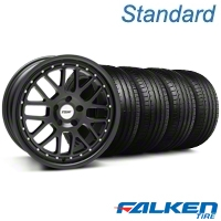 TSW Valencia Matte Black Wheel & Falken Tire Kit - 20x8.5 (05-14 All) - American Muscle Wheels KIT||79573||33615||mb1