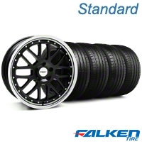 Black w/ Polished Lip TSW Valencia Wheel & Falken Tire Kit - 20x8.5 (05-14 All) - American Muscle Wheels KIT||mb1||33627||79573