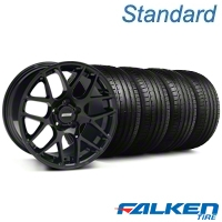 AMR Black Wheel & Falken Tire Kit - 20x8.5 (05-14 All) - American Muscle Wheels KIT||99363||79573
