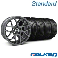 AMR Charcoal Wheel & Falken Tire Kit - 20x8.5 (05-14 All) - American Muscle Wheels KIT||99365||79573
