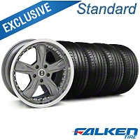 Shelby Razor Gunmetal Wheel & Falken Tire Kit - 20x9 (05-14 GT, V6) - American Muscle Wheels KIT||mb1||79573||27224