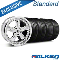 Shelby Razor Chrome Wheel & Falken Tire Kit - 20x9 (05-14 GT, V6) - American Muscle Wheels KIT||mb1||79573||27229