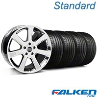 S197 Saleen Chrome Wheel & Falken Tire Kit - 20x9 (05-14 All) - American Muscle Wheels KIT||28361||79573
