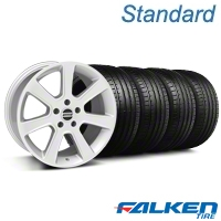S197 Saleen Silver Wheel & Falken Tire Kit - 20x9 (05-14 All) - American Muscle Wheels KIT||28362||79573