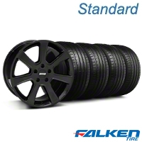S197 Saleen Black Wheel & Falken Tire Kit - 20x9 (05-14 All) - American Muscle Wheels KIT||28363||79573