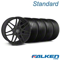 Forgestar F14 Monoblock Textured Black Wheel & Falken Tire Kit - 20x9 (05-14 All) - American Muscle Wheels KIT||29624||79573