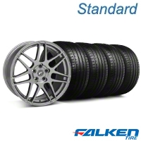Forgestar F14 Monoblock Gunmetal Wheel & Falken Tire Kit - 20x9 (05-14 All) - American Muscle Wheels KIT||29626||79573