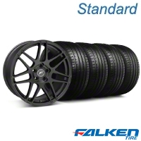 Forgestar F14 Monoblock Matte Black Wheel & Falken Tire Kit - 20x9 (05-14 All) - American Muscle Wheels KIT||29628||79573