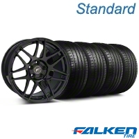 Forgestar F14 Monoblock Piano Black Forgestar F14 Monoblock Wheel & Falken Tire Kit - 20x9 (05-14 All) - American Muscle Wheels KIT||29830||79573