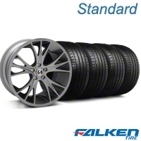 Shelby CS-1 Gunmetal Wheel & Falken Tire Kit - 20x9 (05-14 All) - American Muscle Wheels KIT||79573||33904||mb1