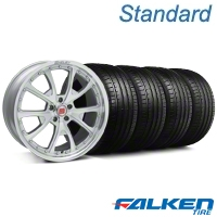 Shelby CS-40 Silver Machined Wheel & Falken Tire Kit - 20x9 (05-14 All) - American Muscle Wheels KIT||33954||79573||mb1