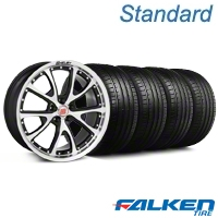 Shelby CS-40 Black Machined Wheel & Falken Tire Kit - 20x9 (05-14 All) - American Muscle Wheels KIT||mb1||33956||79573