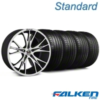 Shelby CS-1 Black Machined Wheel & Falken Tire Kit - 20x9 (05-14 All) - American Muscle Wheels KIT||33960||mb1||79573