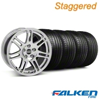 Staggered 10th Anniversary Cobra Chrome Wheel & Falken Tire Kit - 18x9/10 (05-14) - American Muscle Wheels KIT||28346||28352||79569||79570