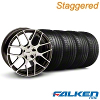 Staggered TSW Nurburgring Gunmetal Wheel & Falken Tire Kit - 19x8.5/9.5 (05-14 All) - American Muscle Wheels KIT||79571||79572||mb1||27355||27360