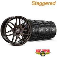 Staggered Forgestar F14 Bronze Burst Wheel & Mickey Thompson Tire Kit - 19x9/10 (05-14 All) - American Muscle Wheels KIT||29868||29869||79539