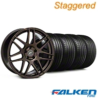 Forgestar Staggerd F14 Bronze Burst Wheel & Falken Tire Kit - 19x9/10 (05-14 All) - Forgestar KIT||29868||29869||79571