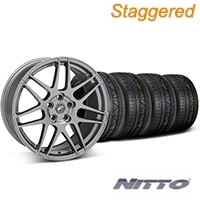 Staggered Forgestar F14 Monoblock Gunmetal Wheel & NITTO INVO Tire Kit - 19x9/11 (05-14 All) - American Muscle Wheels KIT||29612||29867||79521