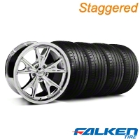Staggered Daytona Chrome Wheel & Falken Tire Kit - 20x8.5/9.5 (05-14 GT, V6) - American Racing KIT||27219||79574||mb1||27217||79573