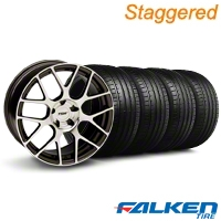 Staggered TSW Nurburgring Gunmetal Wheel & Falken Tire Kit - 20x8.5/10 (05-14 All) - American Muscle Wheels KIT||27359||mb1||79574||27357||79573