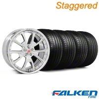 Staggered Shelby CS-40 Chrome Wheel & Falken Tire Kit - 20x9/10 (05-14 All) - American Muscle Wheels KIT||33959||79574||mb1||79573||33958