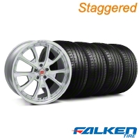 Staggered Shelby CS-40 Silver Machined Wheel & Falken Tire Kit - 20x9/10 (05-14 All) - American Muscle Wheels KIT||33954||79573||mb1||79574||33955