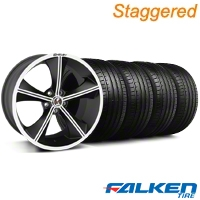 Shelby Staggered CS-70 Matte Black Wheel & Falken Tire Kit - 20x9/10 (05-14 All) - Shelby KIT||79573||33903||33902||79574||mb1
