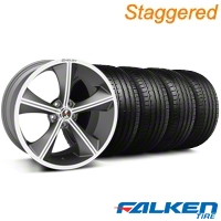 Staggered Shelby CS-70 Gunmetal Wheel & Falken Tire Kit - 20x9/10 (05-14 All) - American Muscle Wheels KIT||33901||33900||79574||mb1||79573