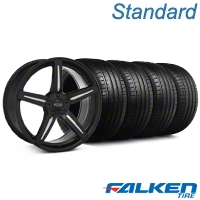 Staggered Foose Enforcer Gloss Black Wheel & Falken Tire Kit - 20x9/10 (05-14) - American Muscle Wheels KIT||38680||79574||mb1||38679||79573