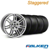 Staggered 10th Anniversary Cobra Anthracite Wheel & Falken Tire Kit - 18x9/10 (94-98) - American Muscle Wheels KIT||79560||79562||28347||mb1||28350