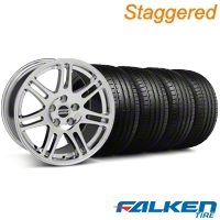 Staggered 10th Anniversary Cobra Style Chrome Wheel & Falken Tire Kit - 18x9/10 (94-98) - American Muscle Wheels KIT||28349||79562||79560||28346||mb1