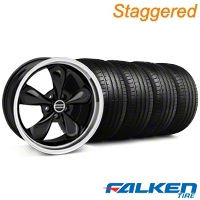 Staggered Bullitt Black Wheel & Falken Tire Kit - 18x9/10 (94-98) - American Muscle Wheels KIT||79562||28264||79560||28270||mb1