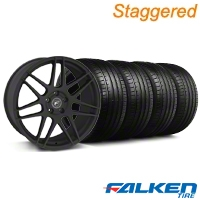 Staggered Forgestar F14 Monoblock Staggered Textured Black Forgestar F14 Monoblock Wheel & Falken Tire Kit - 18x9/10 (94-98) - American Muscle Wheels KIT||29839||79562||29838||mb1||79560