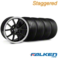 Staggered FR500 Style Black Wheel & Falken Tire Kit - 18x9/10 (94-98) - American Muscle Wheels KIT||79562||mb1||28101||79560||28272