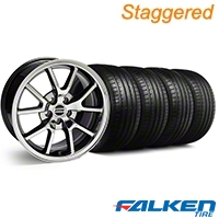 Staggered FR500 Black Chrome Wheel & Falken Tire Kit - 18x9/10 (94-98) - American Muscle Wheels KIT||10103||79562||79560||mb1||10104